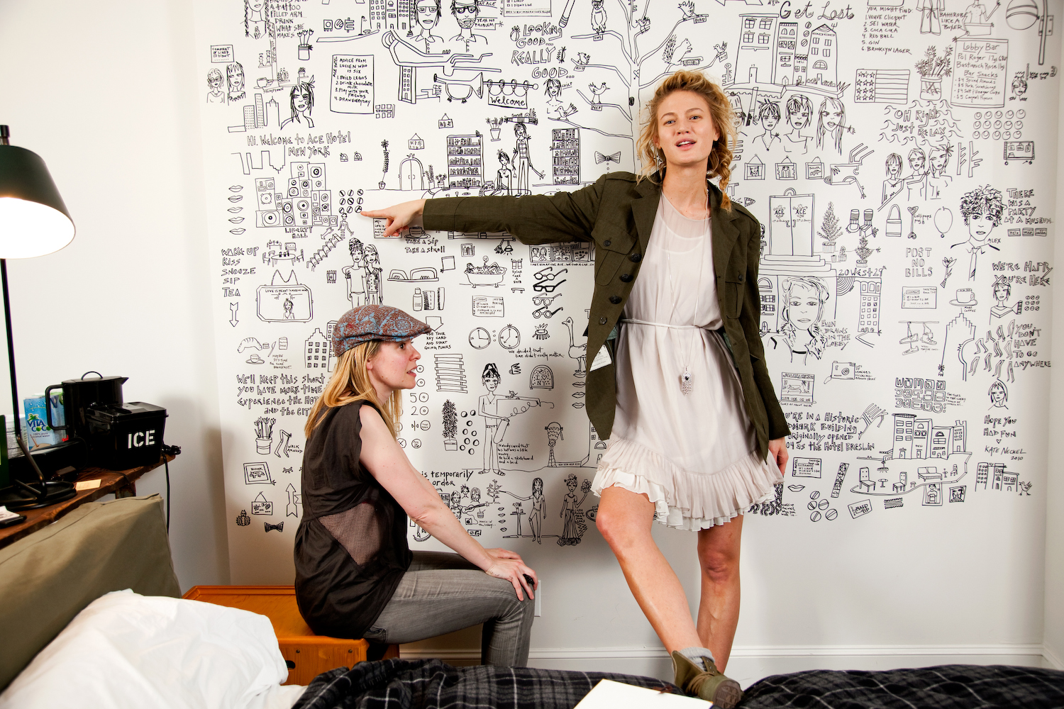 Michelle Buswell with Kate Neckel