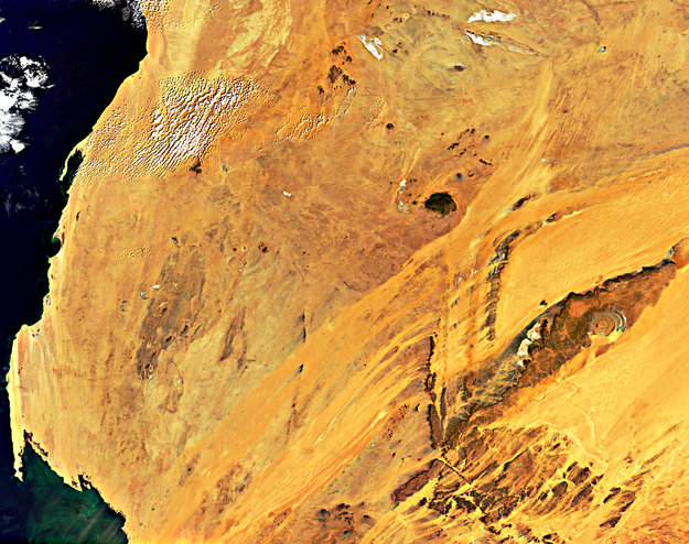 Mauritania, Africa-Copyright European Space Agency (ESA)