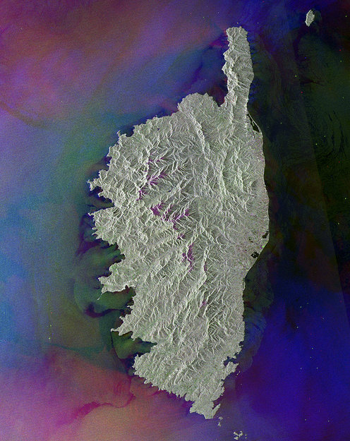 The French island of Corsica-Copyright European Space Agency (ESA)