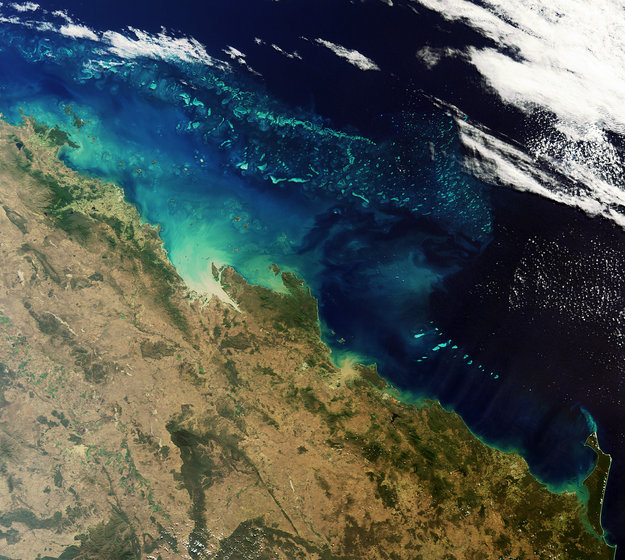 The Great Barrier Reef, Australia-Copyright European Space Agency (ESA)