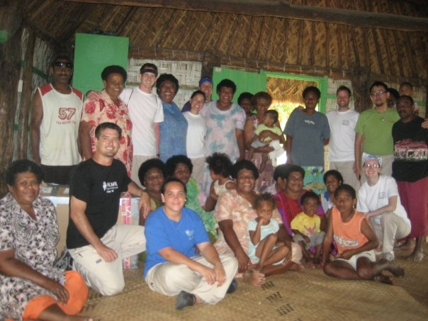 Pierce: front row, far right. Fiji, 2009.