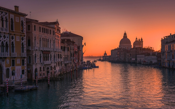 Venetie zonsondergang