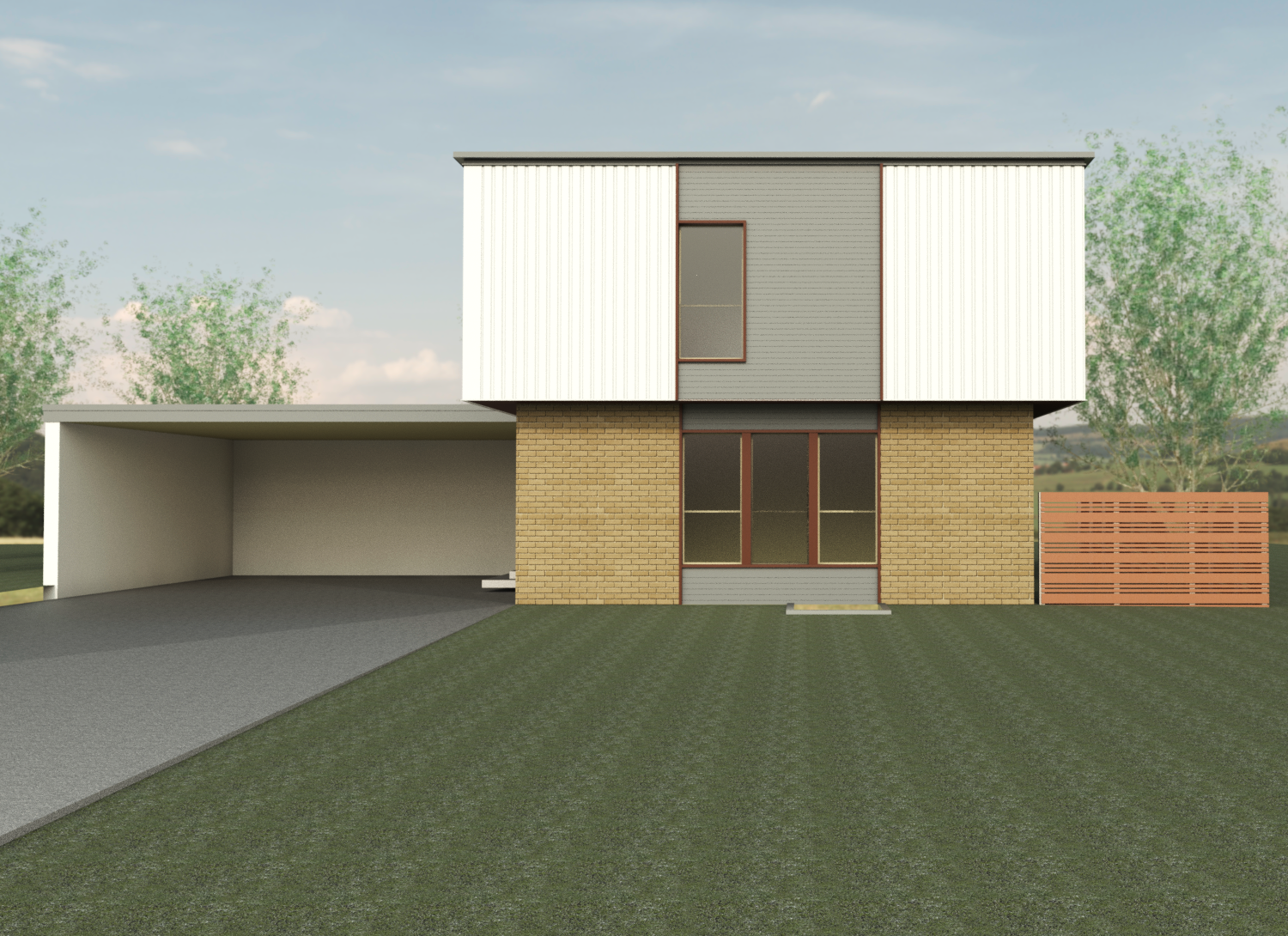 06 Martins_Residence_3D_View_-_front_from_street_-_straight_on_-_gray_insert_-_white_sides.png