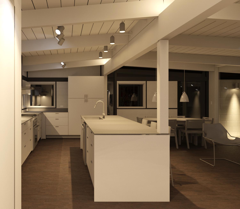 Lighting A Mcm Post And Beam Home Cadence Design Studio
