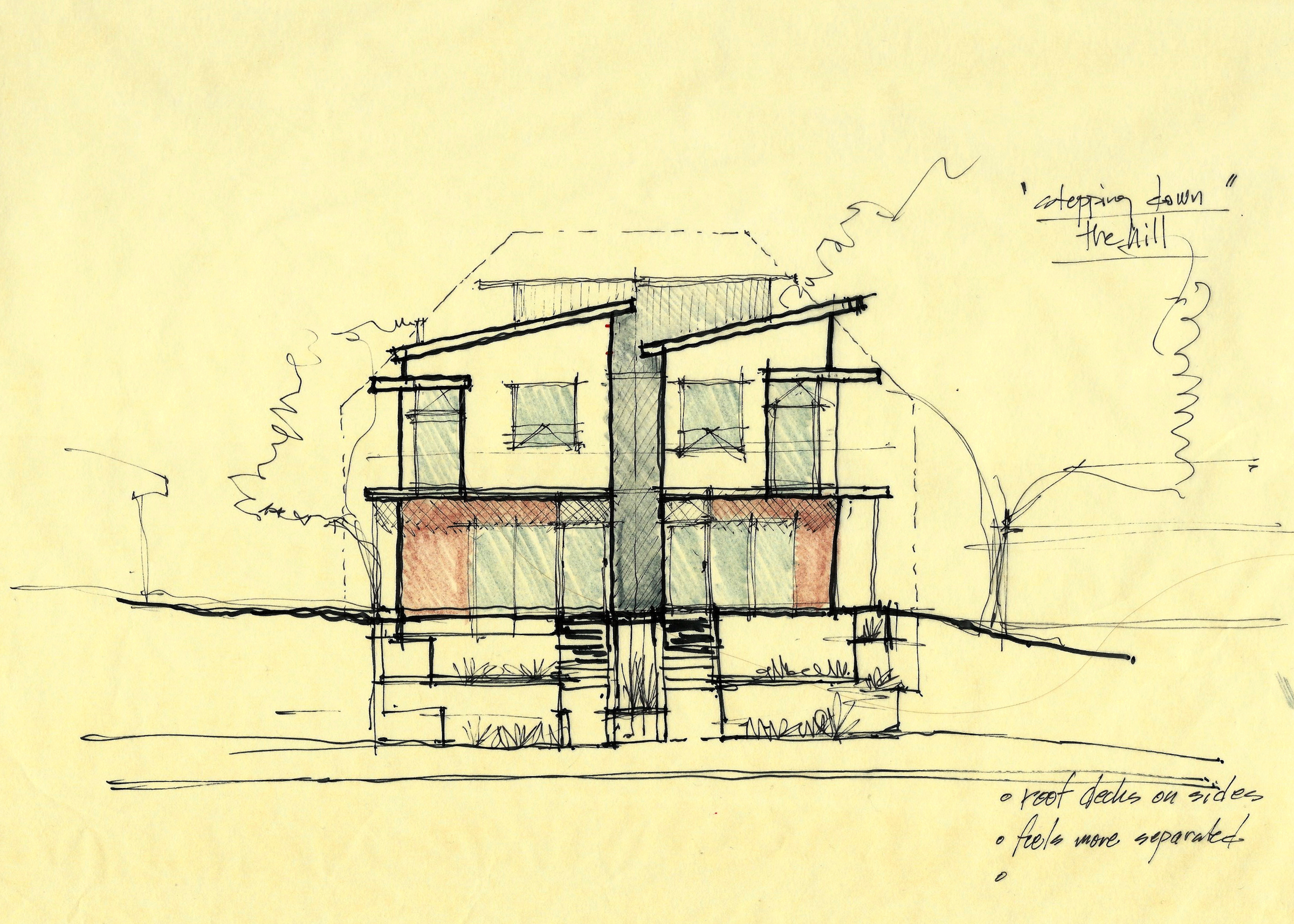 Sherman-Stepping down the hill front elevation sketch.jpg