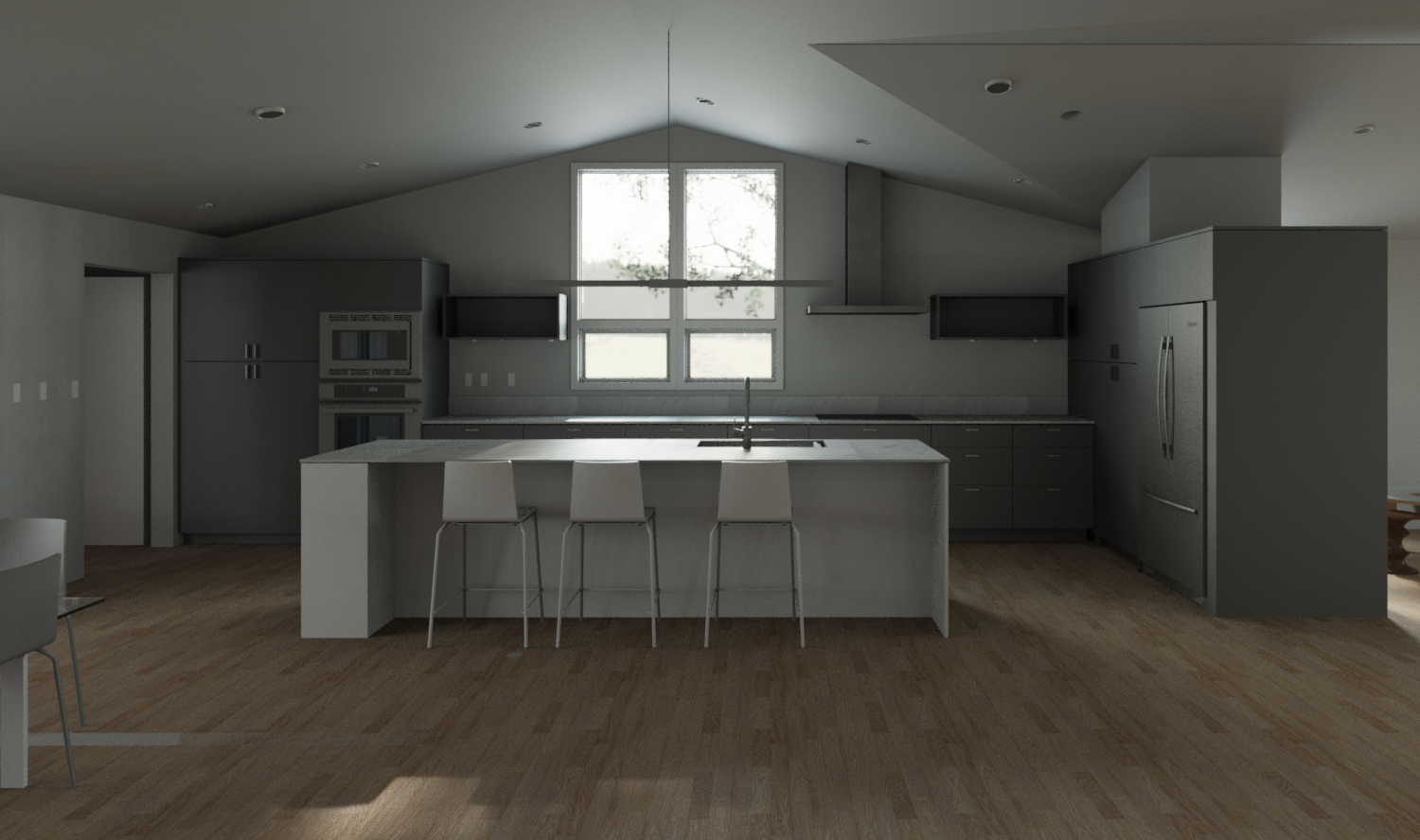 Haag-Docter-Model.rvt_2016-Feb-01_03-35-49PM-000_3D_View_-_Kitchen_from_stairs_-_all_gray_-_white_island.png