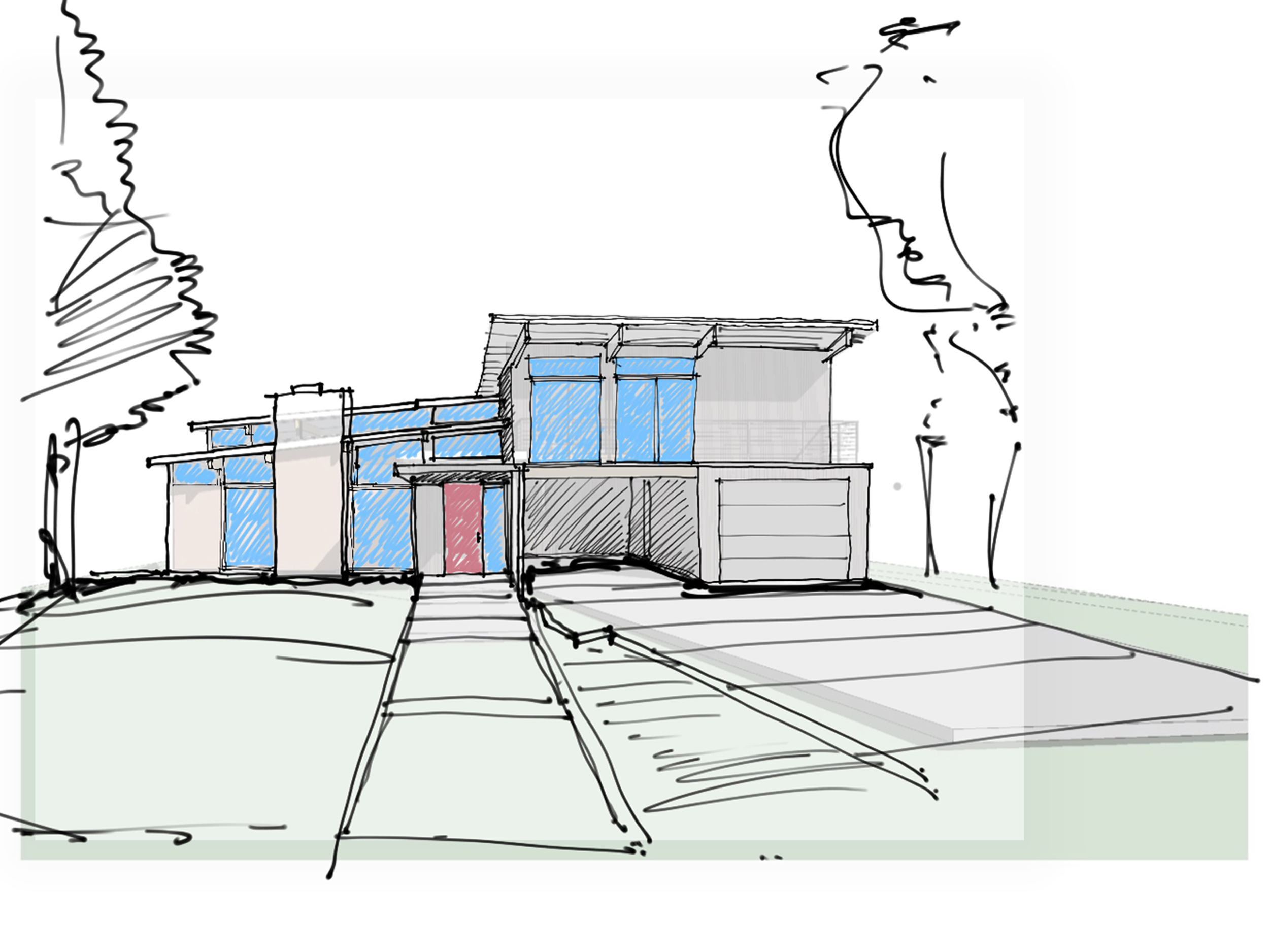 Grant - Perspective sketche - Front Shed Roof.jpg