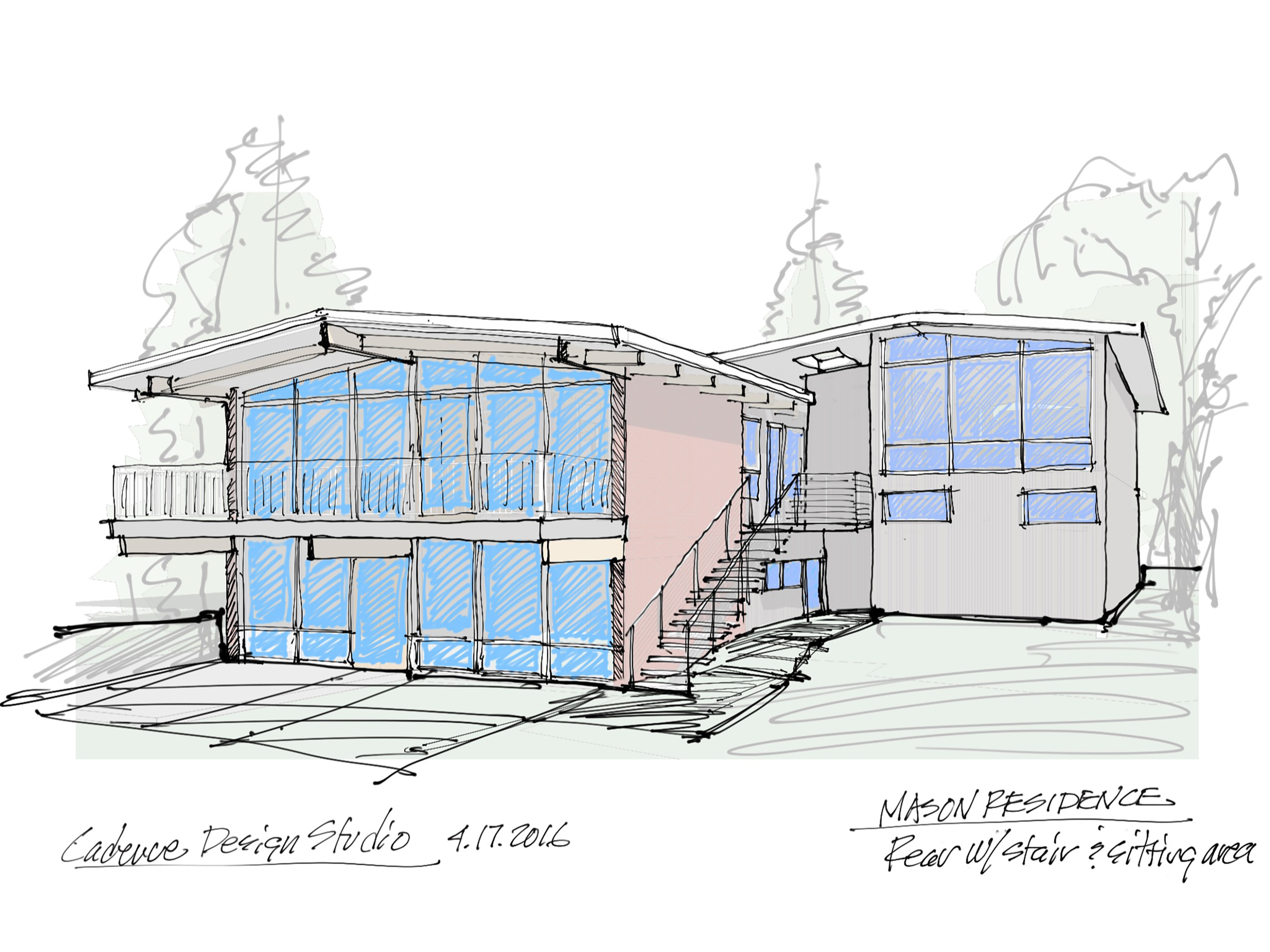 Mason Sketch - 3D rear with stairs to backyard and master sitting area.jpg