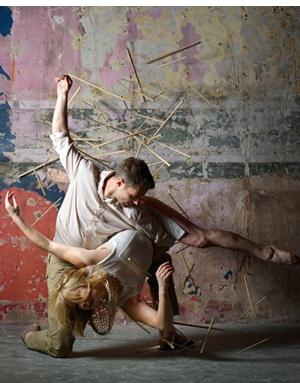 Dancers: DCD beneficiariesGemma Nixon and Alexander Whitley. Photographer:Laurent Liotardo, DCD retrained dancer.