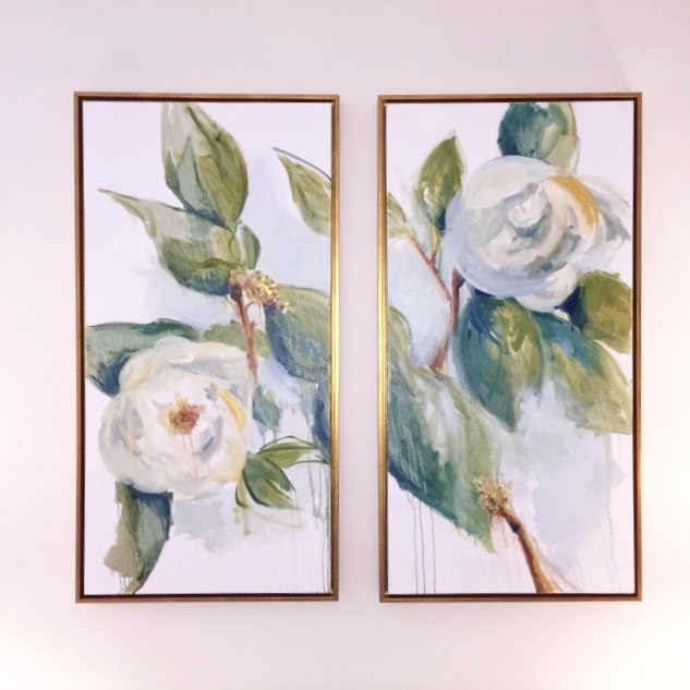 Magnolia diptych commission