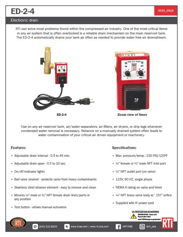 A036 ED-2-4 Electronic Drain
