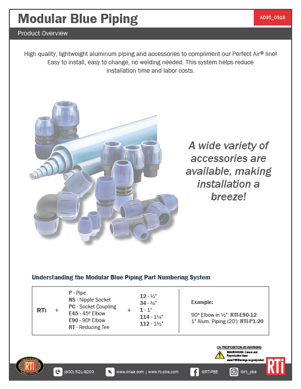 A095 Blue Pipe Overview