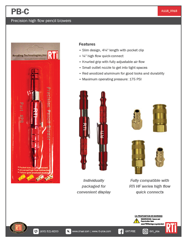 A118 Pencil Blower (PB-C)