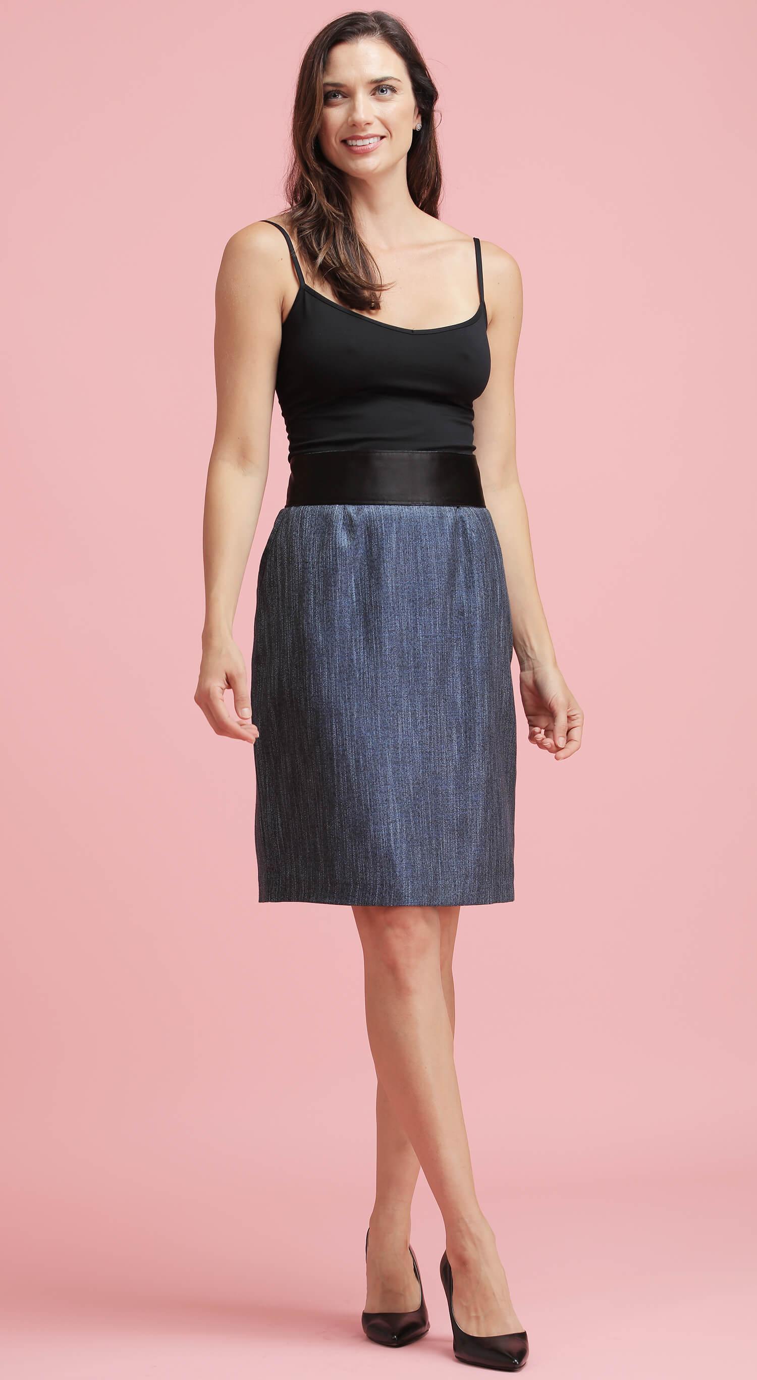 The Blue Bamboo Skirt