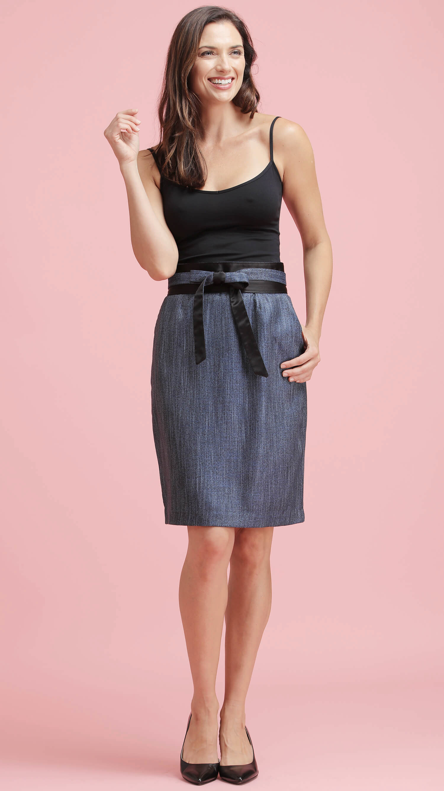 The Bamboo Skirt (in Blue)