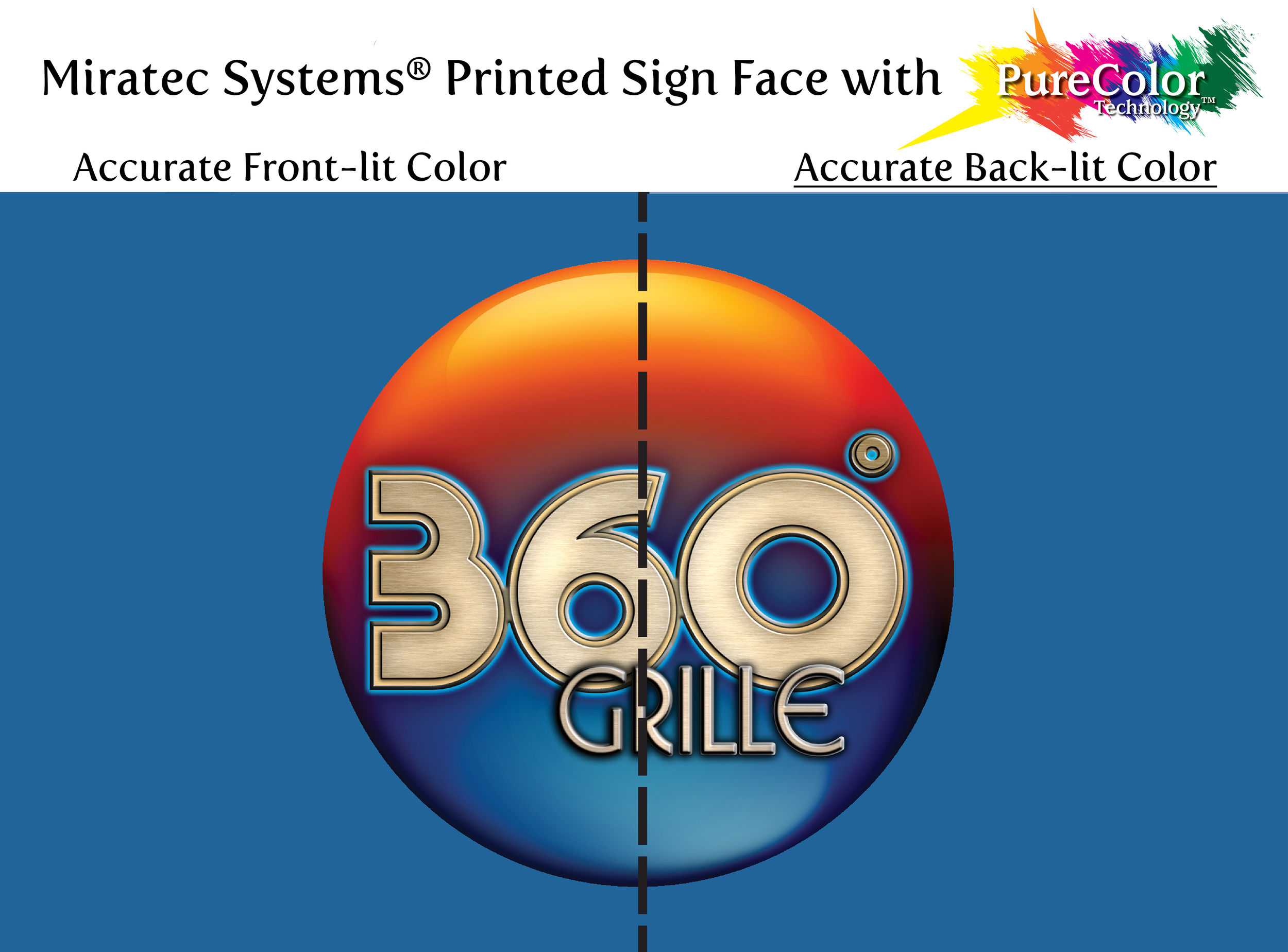 Miratec Systems® Printed Sign Face with PureColor Technology®