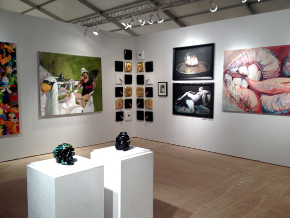 The Hanger Gallery booth at Scope takes shape
