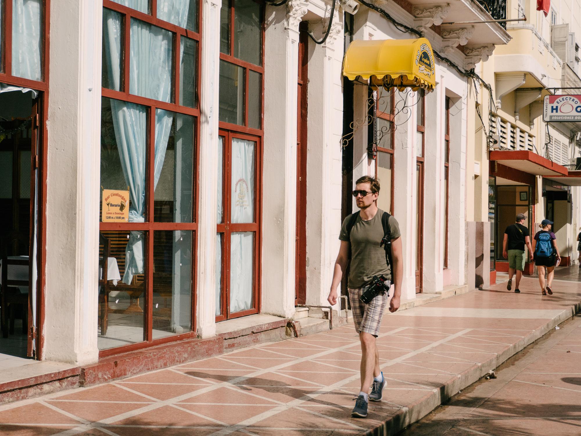 Pedestrian shopping street in Cienfuegos