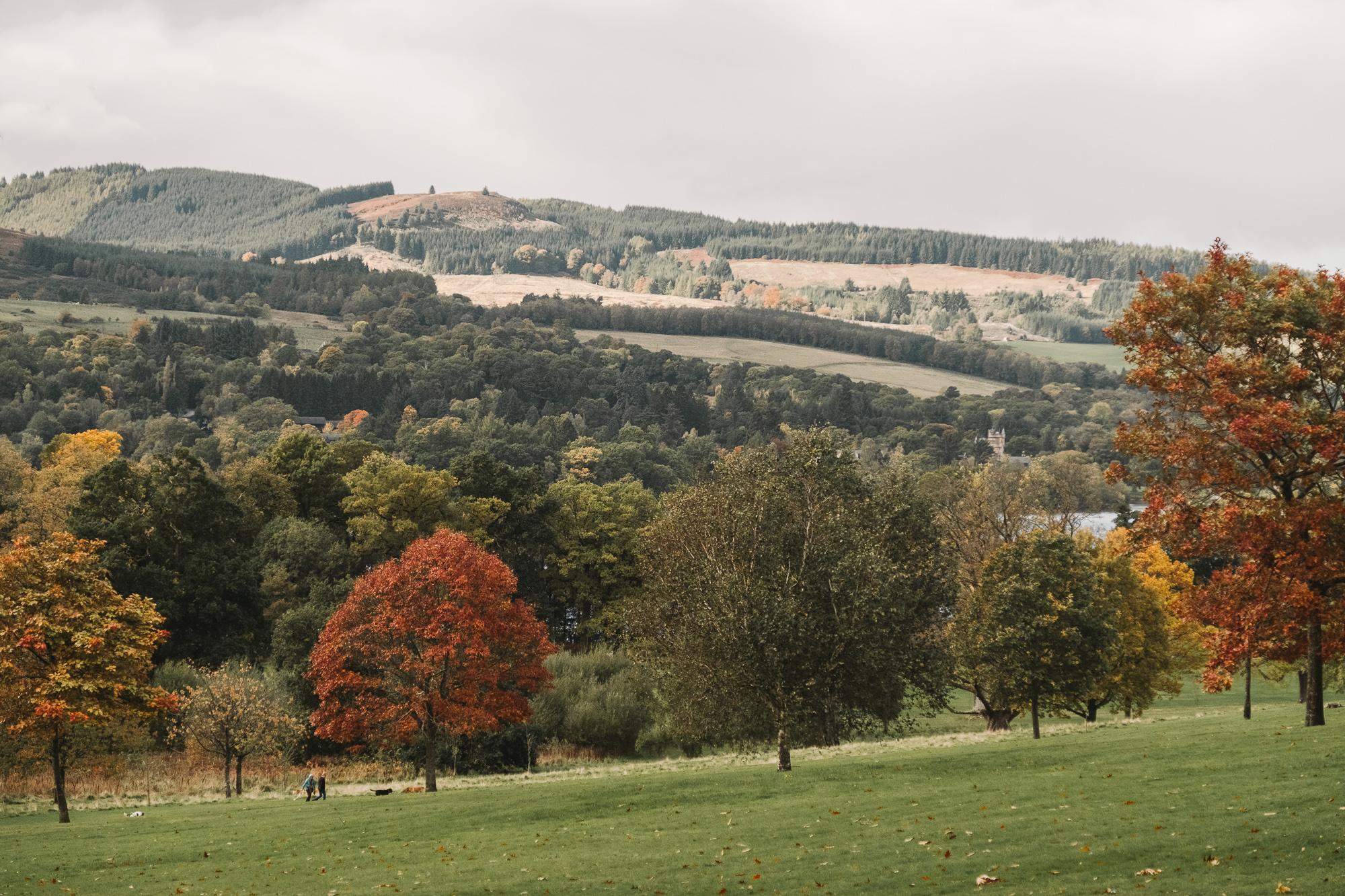 Views over the hills along Loch Lomond