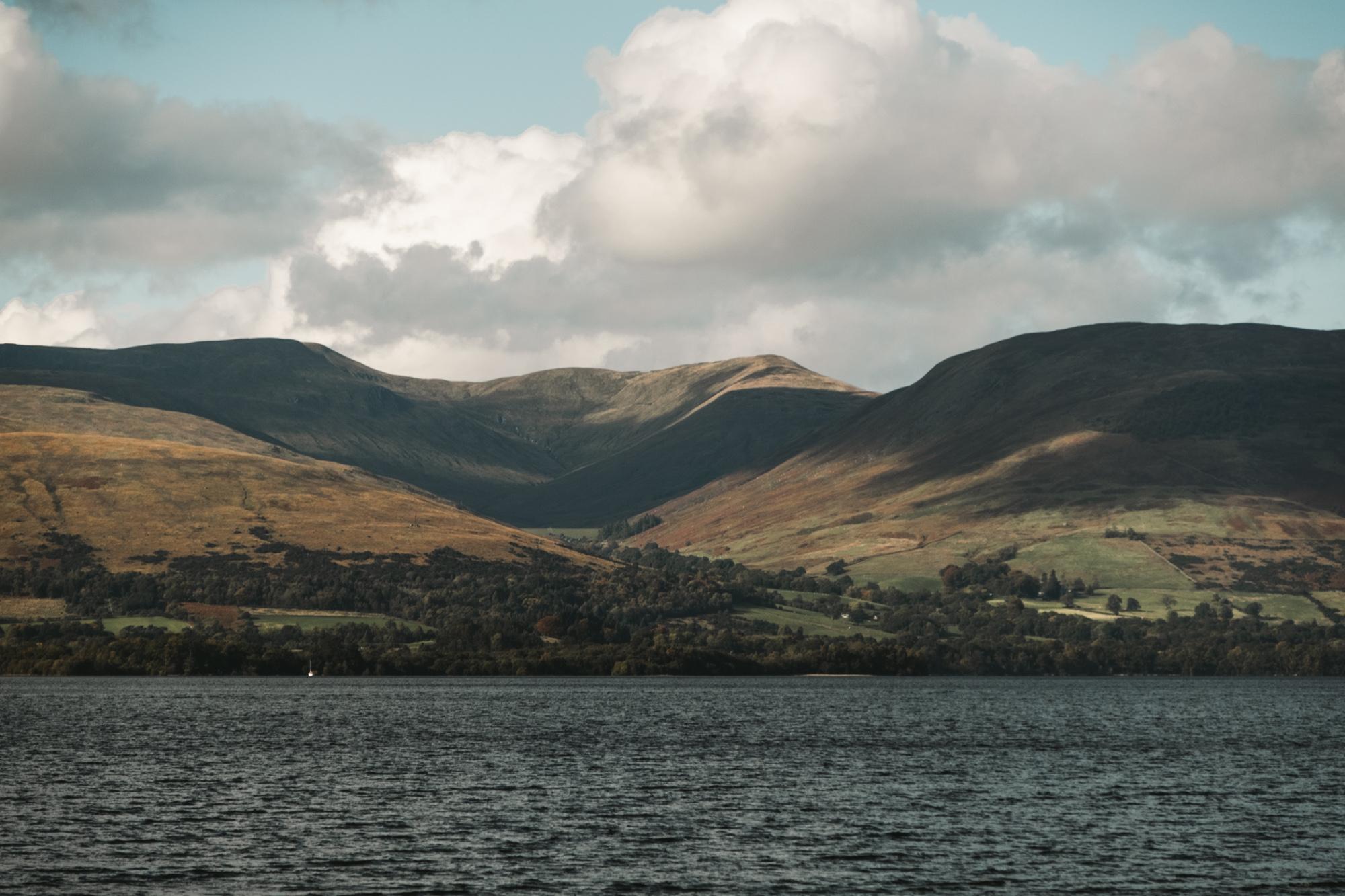 The stunning hills at Loch Lomond