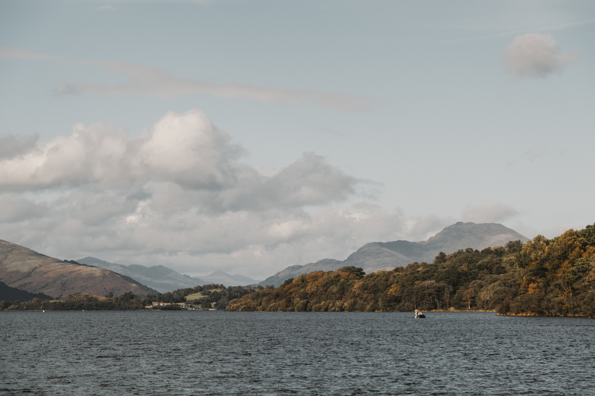 Ben Lomond in all its visible glory! The first mountain marking the beginning of the Highlands