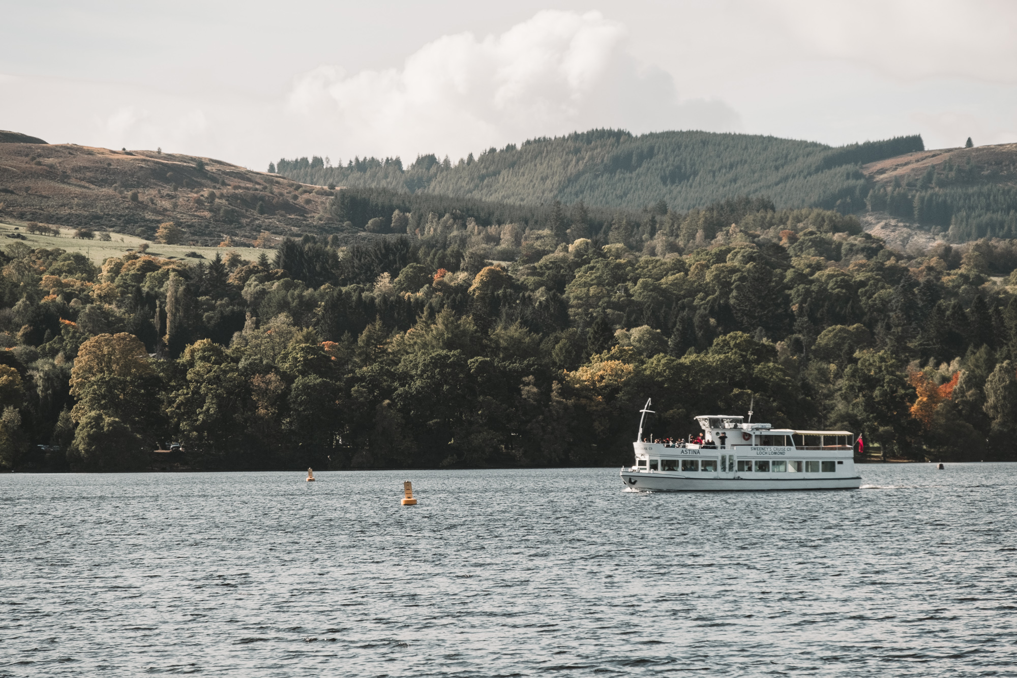 After the walk in the park take a   Sweeney Cruise   to explore Loch Lomond further