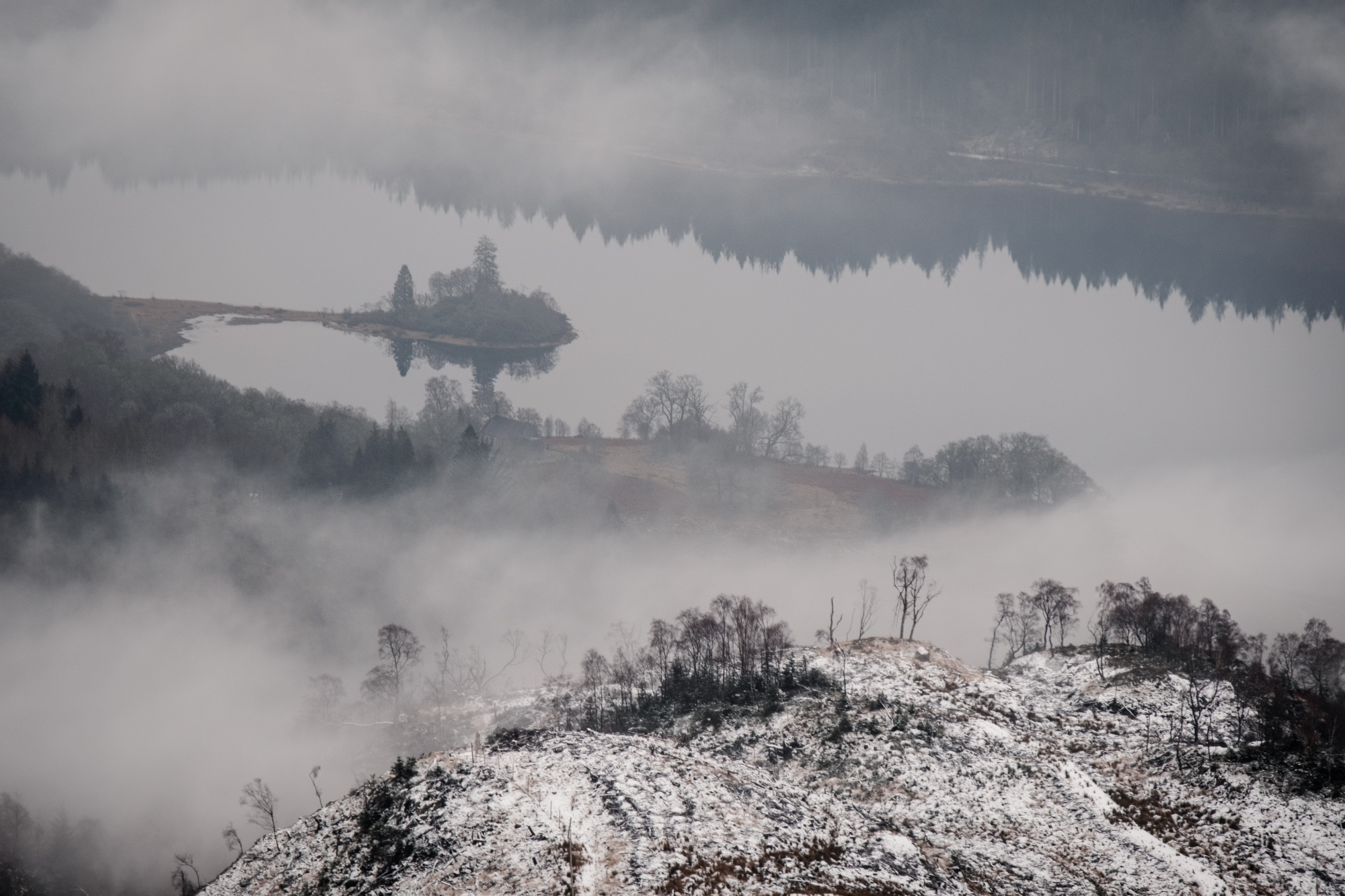 Loch Katrine from above