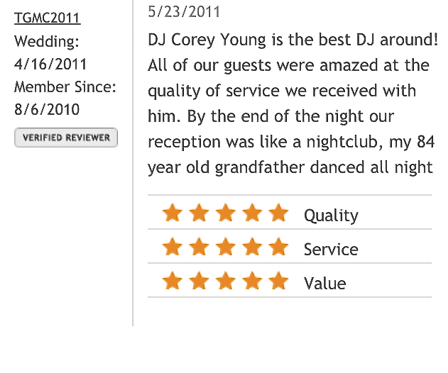 DJ Corey Young Wedding Reviews // The Botanical Gardens at Roger Williams Park Providence RI