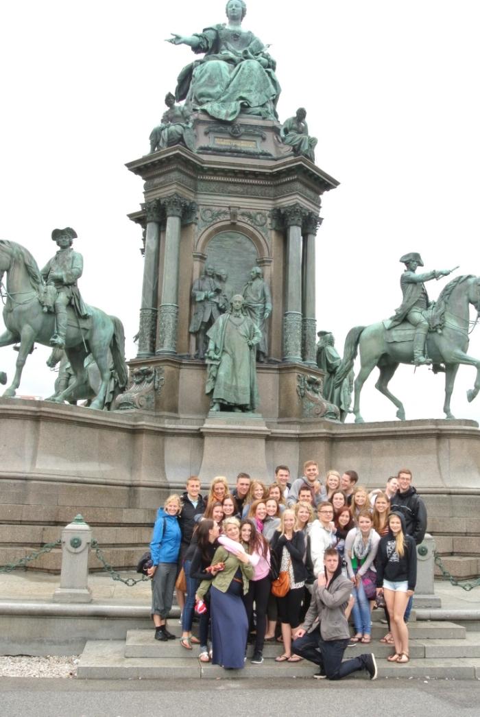 Statue of Maria Christina in Vienna city centre
