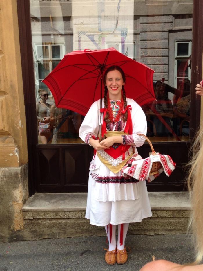 Croatian Girl in Zagreb