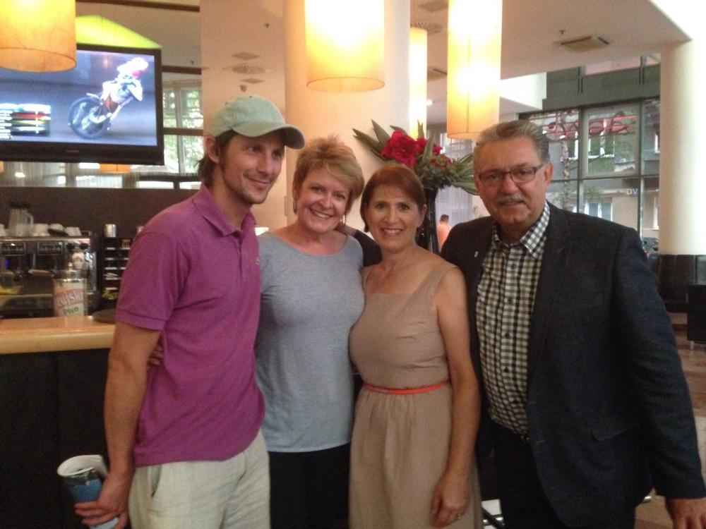 Tour guide Damjan, Terry, Christine and Gene Zwozdesky