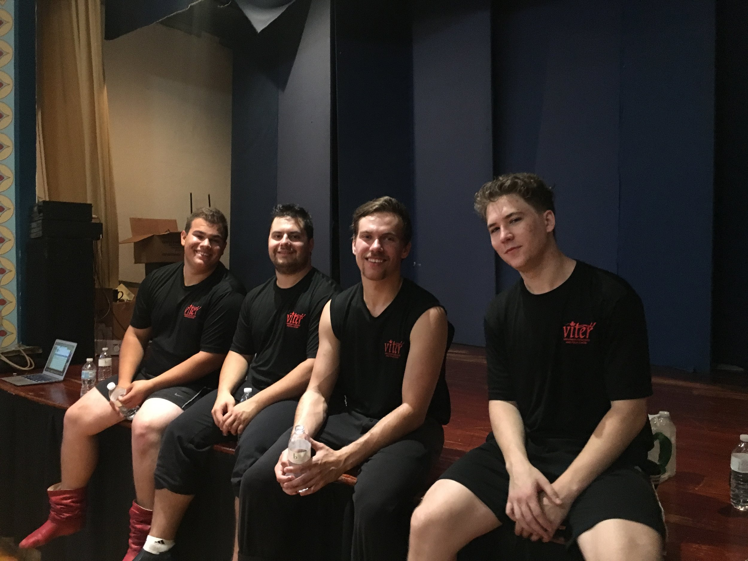 Our handsome dancer boys at rehearsal!