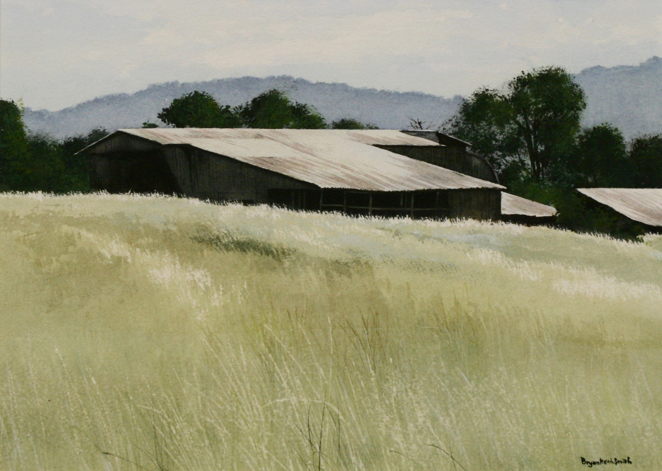 """The Barns on 28 26 3/4"""" W x 23 1/4"""" HFramed $1325."""