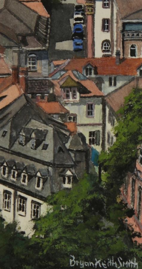 "Heidelberg Tops 12 3/4"" W x 14 3/4"" H  Framed $525."