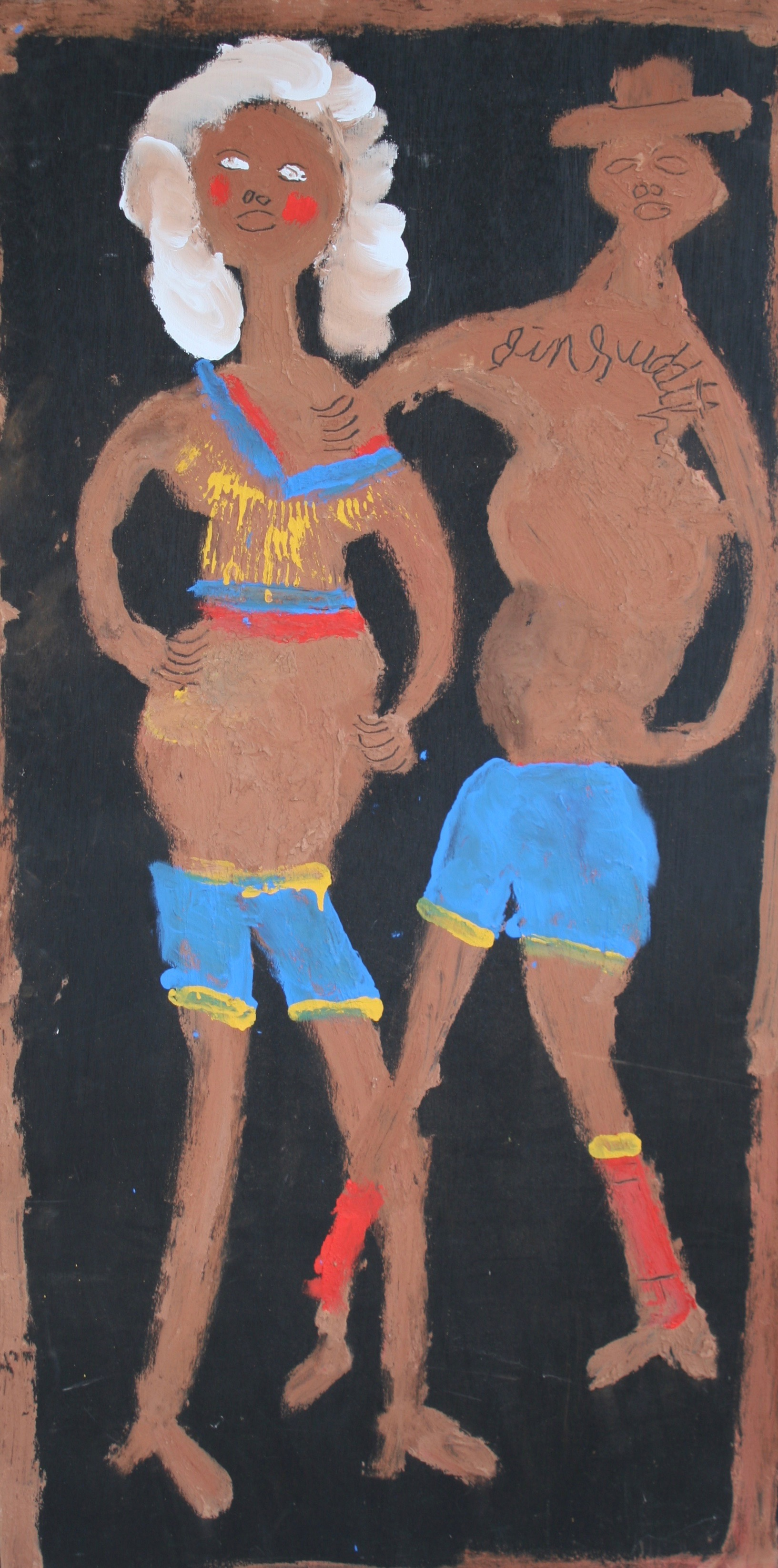 """Couple with Swim Suits 24"""" W x 48"""" H Unframed $1400."""