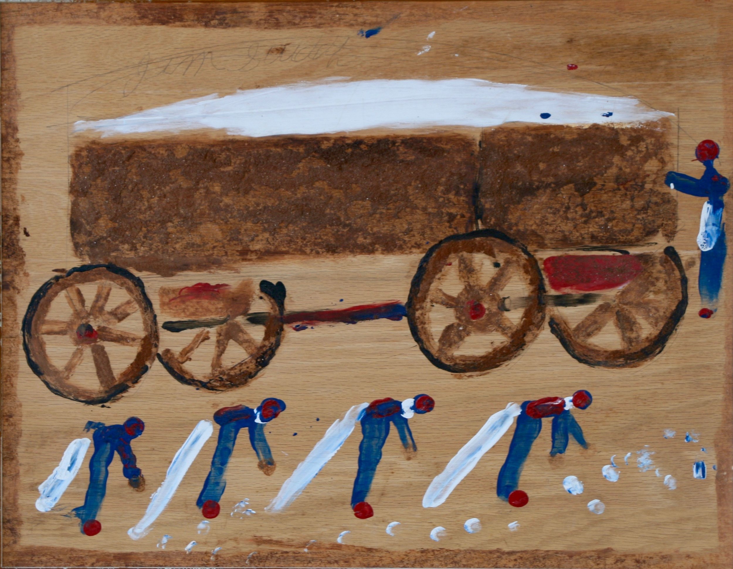 """Cotton Pickers 26 1/4"""" W x 21 1/4"""" H Framed $1400."""