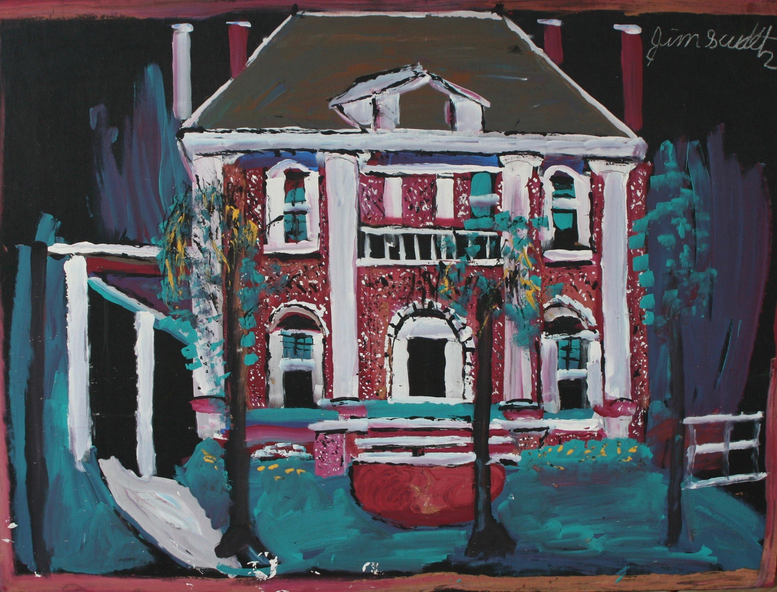 """Mansion 48"""" W x 36"""" H Unframed $2500."""