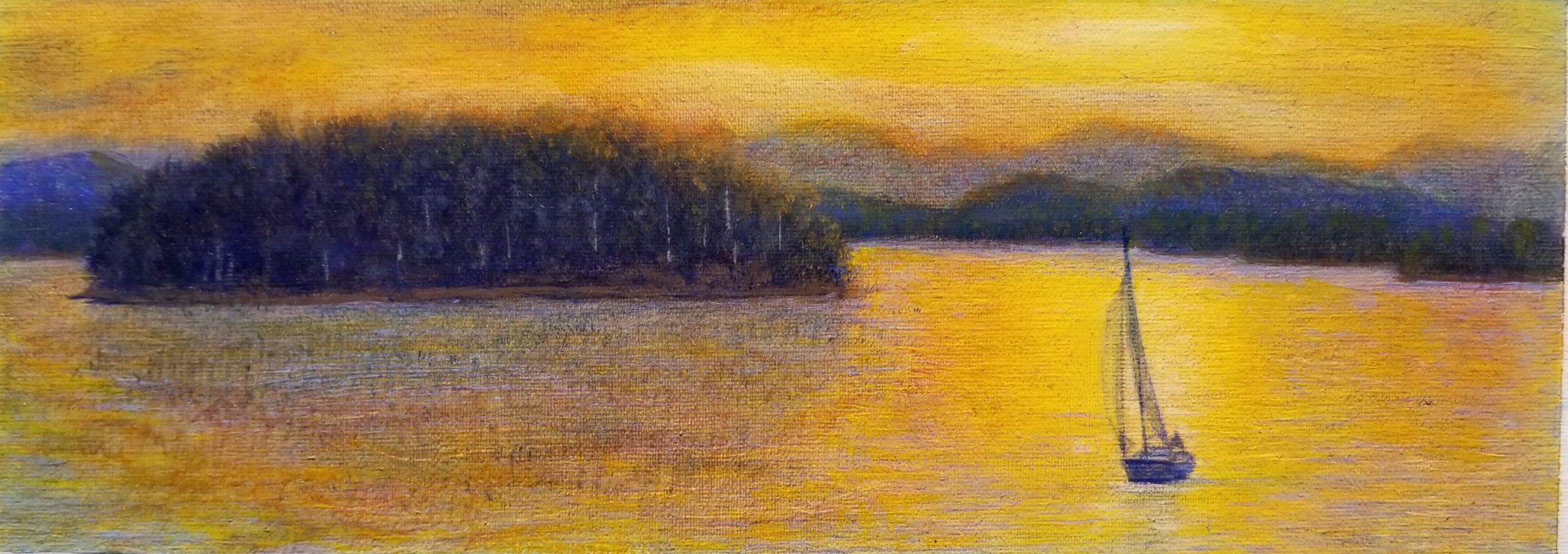 Lake Keowee, Nancy Oppenheimer.   Chosen for a 14ft mural at the Greenville/Spartanburg Airport