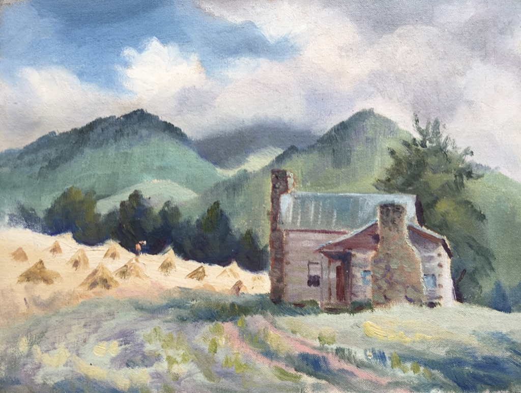 """Home View  10.5""""H X 14""""W  $500"""