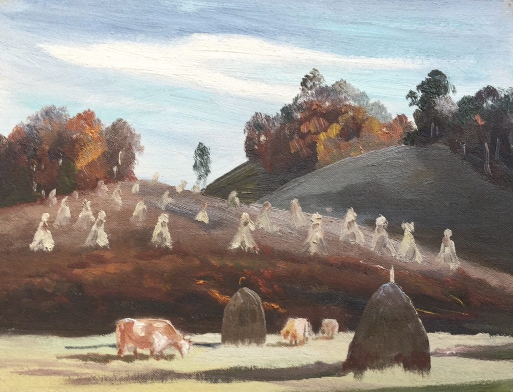 "Fall Pasture  8 15/16""H X 11 5/8""W  $500"