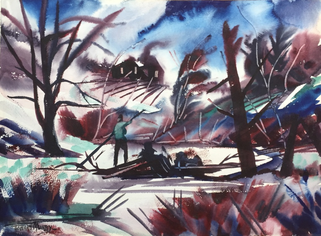 "Winters Wood  14.5""H X 19.75""W  Unframed  $750"