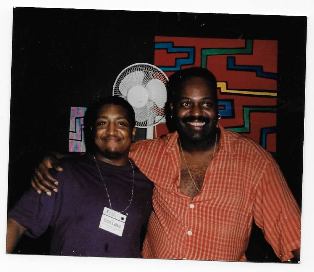 (Above: Lee Collins and Frankie Knuckles, taken summer of 1999. Photo courtesy of Ron Trent, all rights reserved)
