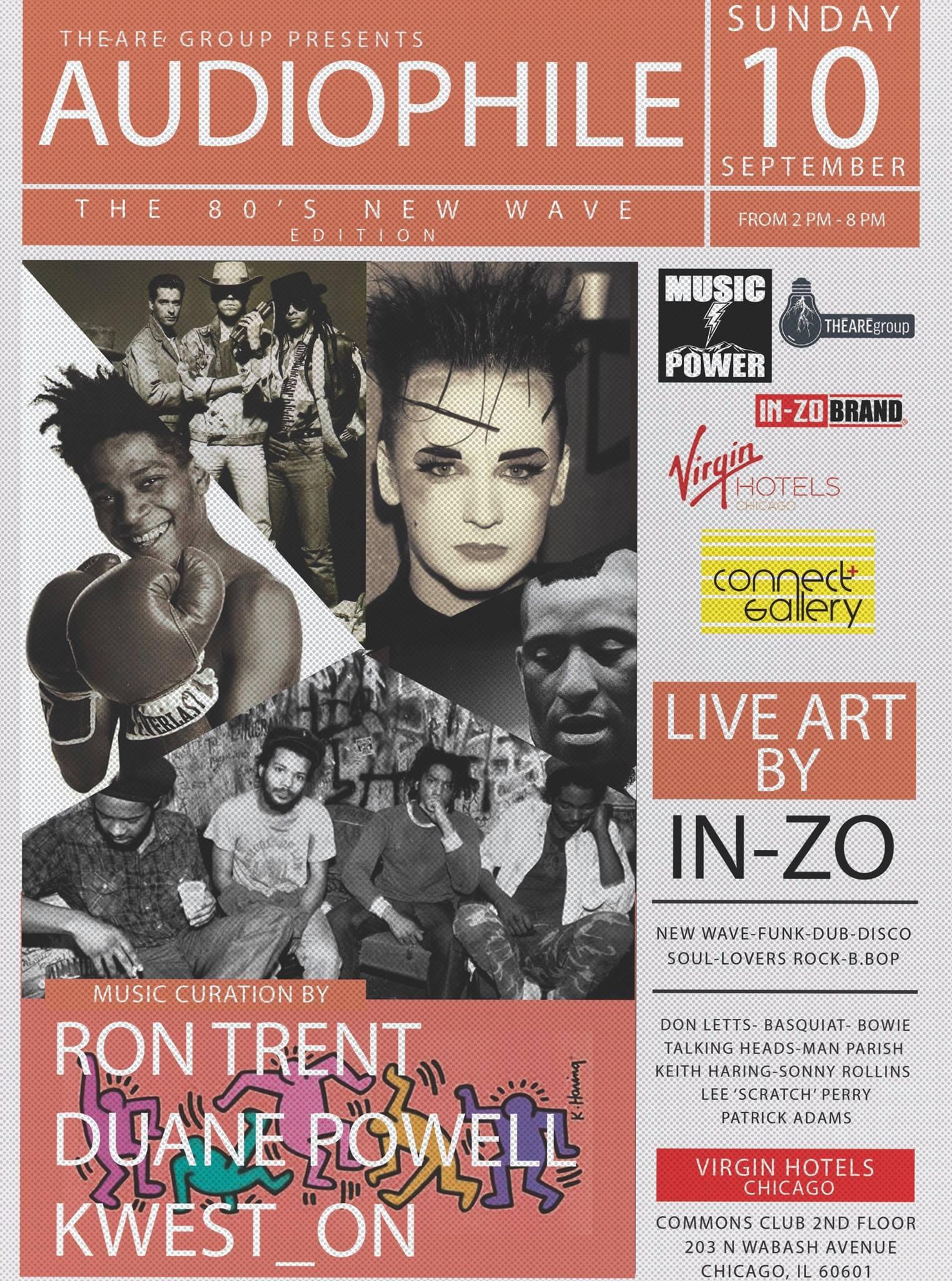 Audiophile 80s New Wave @ Cerise Rooftop 10th Sept 2017