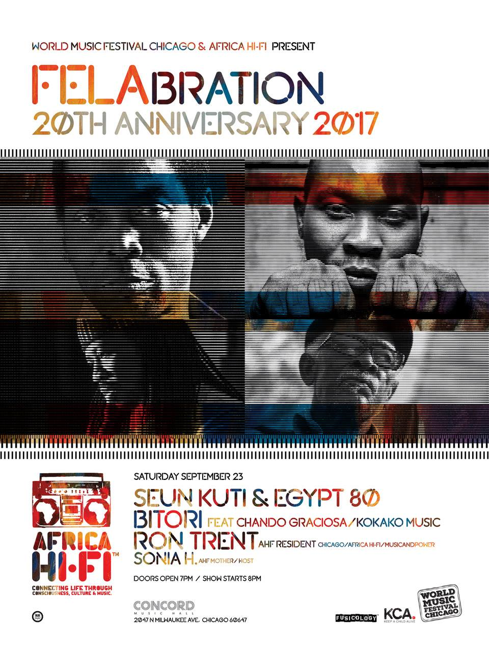 Felabration 20th Anniversary with Africa HiFi, Seun Kuti, Egypt 80 and Bitori 2017 Chicago Concord Music Hall