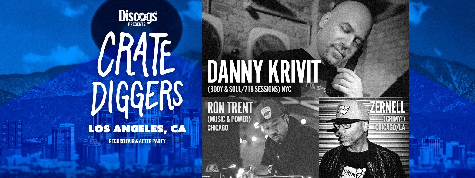 Crate Diggers Record Fair After Party LA October 14th 2017 Danny Krivit Ron Trent Zernell Flyer