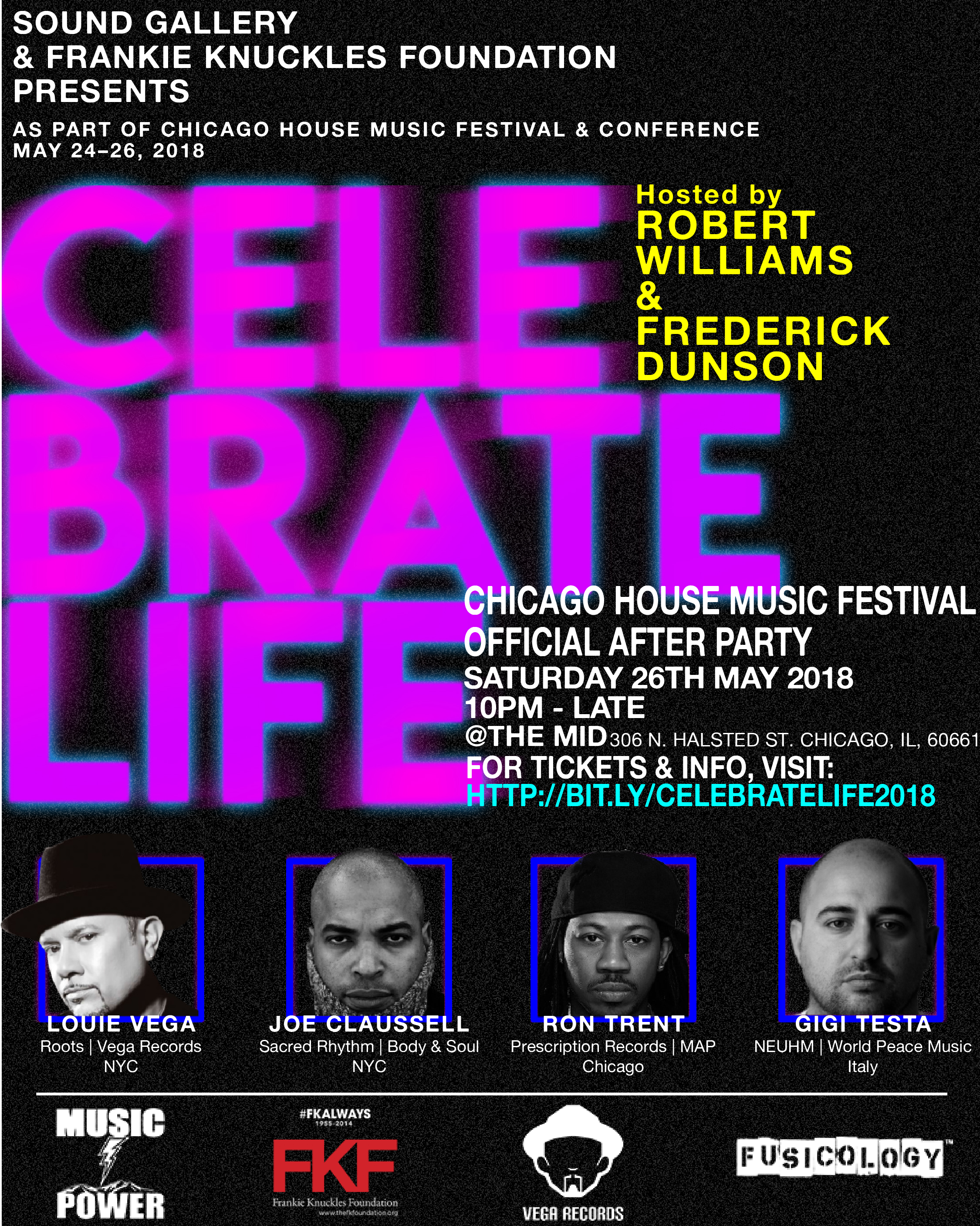 5.26 Celebrate Life - Chicago House Music Festival Official Afterparty