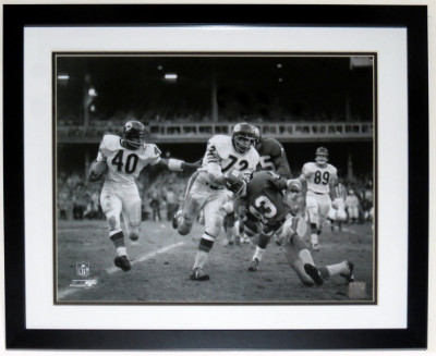 Black and White Football Photograph - Circa 1960's