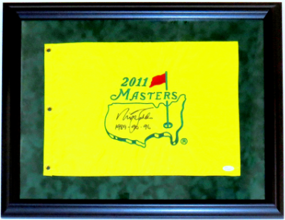 Augusta Masters Pin Flag Framed on Green Suede