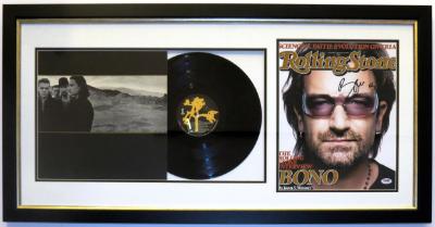 U2 Joshua Tree Album and Rolling Stone Magazine Compilation Signed by Bono