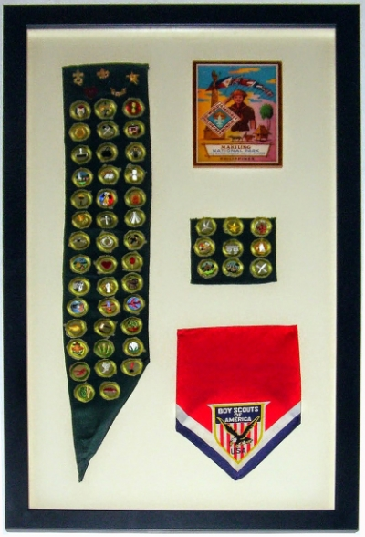 Boy Scout Sash, Kerchief, and Patch